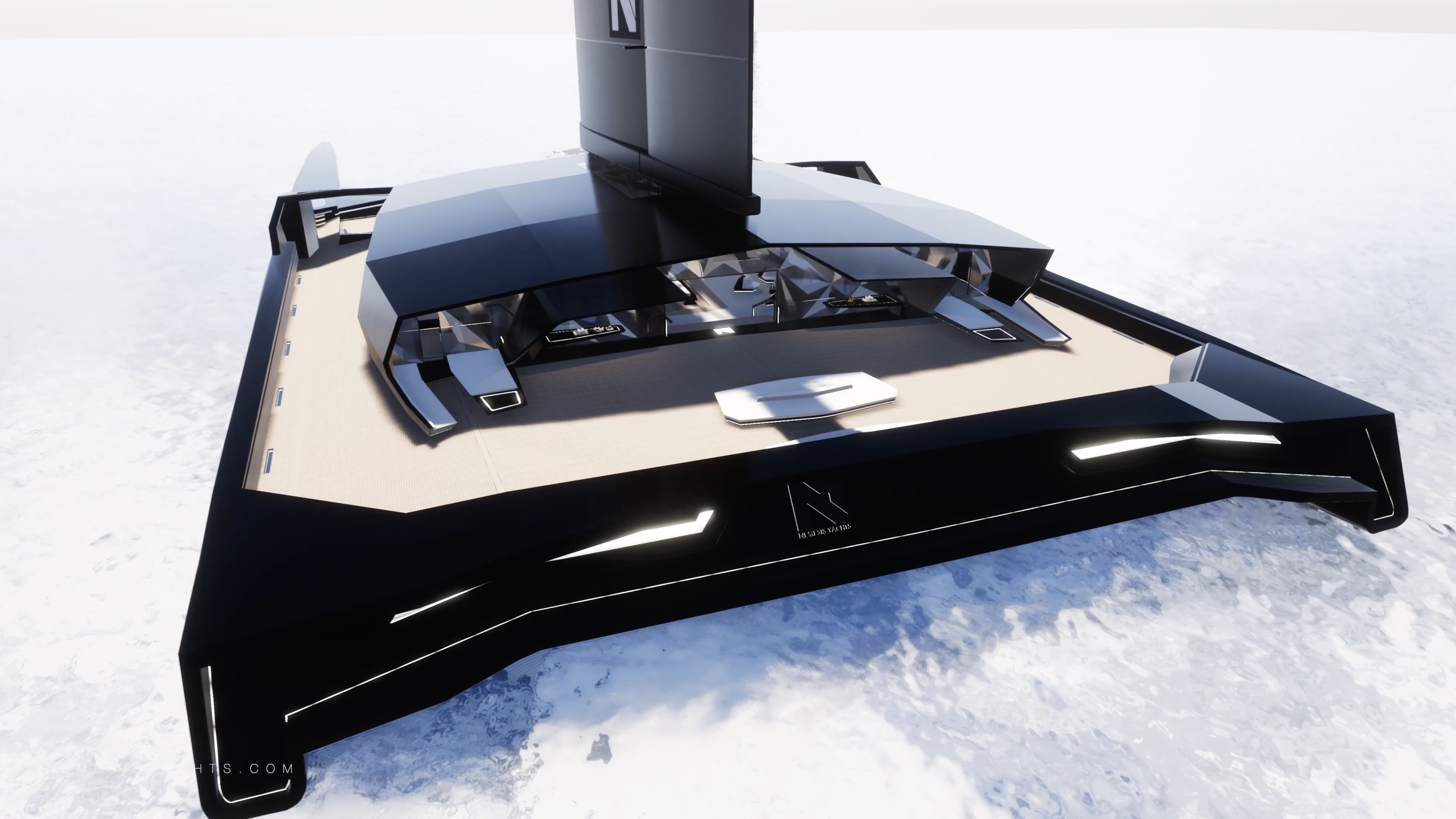 Nemesis One Catamaran Stern view