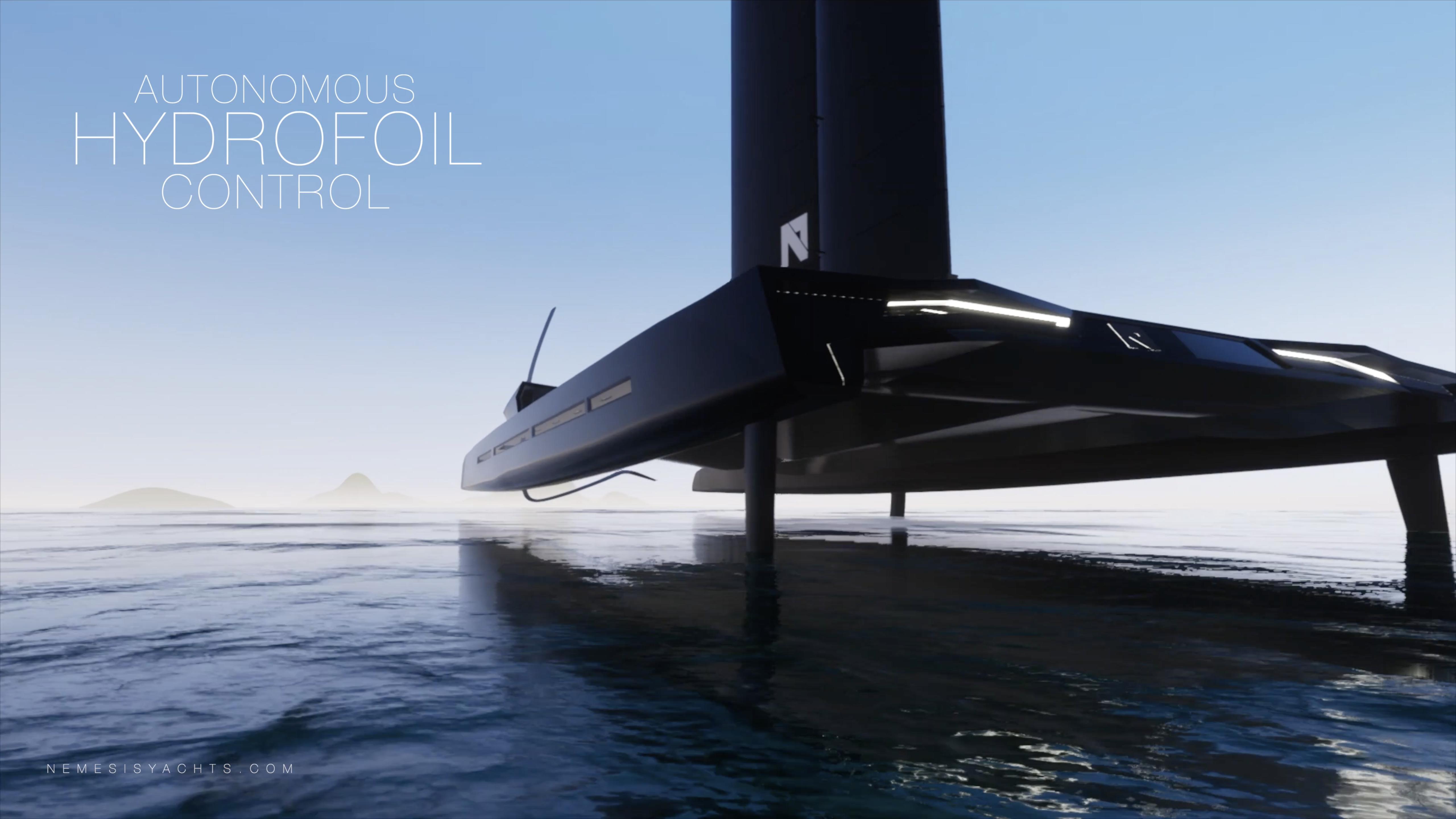 Nemesis One Worlds Fastest Luxury Hydrofoil Sailing Super Yacht