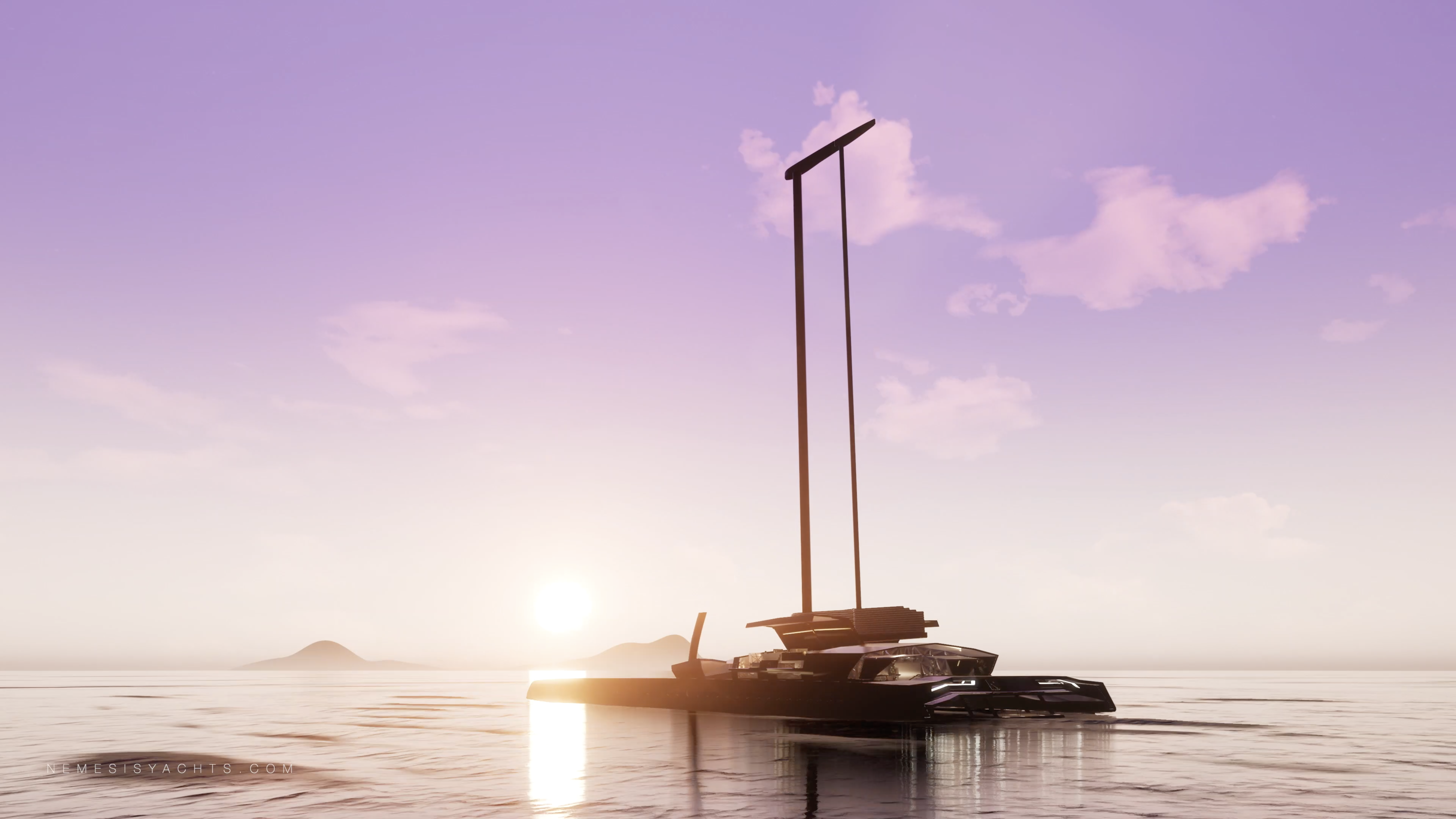 Nemesis One - Hydrofoil Catamaran Sunset